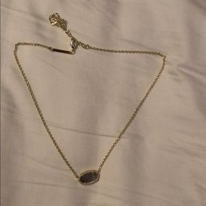 Kendra Scott Eliza Gold Pendant Necklace in Slate
